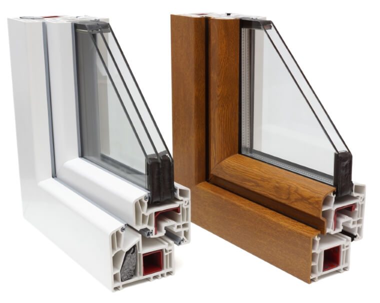 Doorsnee soorten pvc ramen